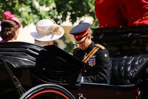 Trooping the Colour Prinz Harry, Herzogin Kate und Camilla
